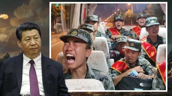 Chinese Soldiers Crying: వైరల్ అవుతున్న చైనా సైనికులు ఏడుస్తున్న వీడియో