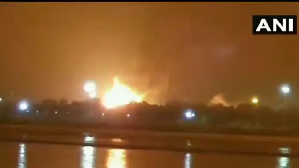 Surat Fire Accident: ఓఎన్జీసీలో భారీ అగ్ని ప్రమాదం.. ఎగసిపడుతున్న మంటలు