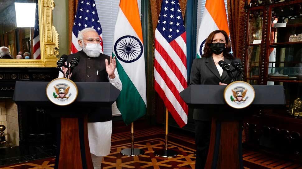 PM Modi US Tour: అమెరికా వైస్ ప్రెసిడెంట్ కమలా హారిస్తో ప్రధాని మోదీ భేటీ.. ఆమె గెలుపు చారిత్రాత్మకం
