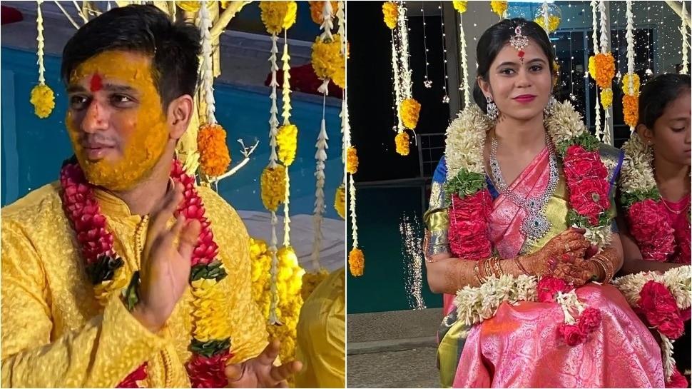 Actor Nikhil Pallavi varma Marriage Photos