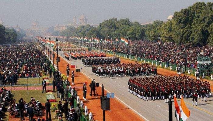 Republic day parade reharsal : రిపబ్లిక్ డే పరేడ్ కోసం ముమ్మరంగా రిహార్సల్స్