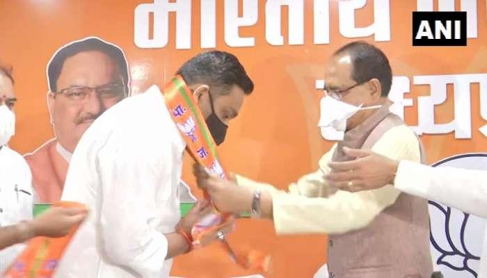 MP Bypolls: కాంగ్రెస్కు షాక్.. బీజేపీలో చేరిన ఎమ్మెల్యే