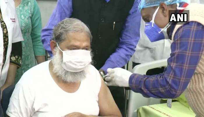 Anil Vij: కోవ్యాక్సిన్ డోసు తీసుకున్న హర్యానా ఆరోగ్య మంత్రి