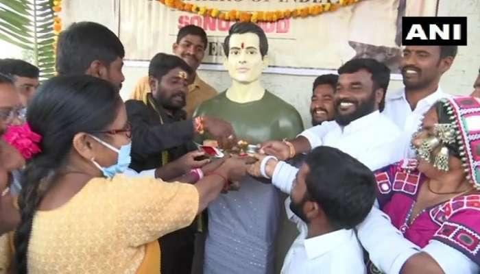 Sonu Sood: రియల్ హీరో సోనూసూద్కు తెలంగాణలో ఆలయం