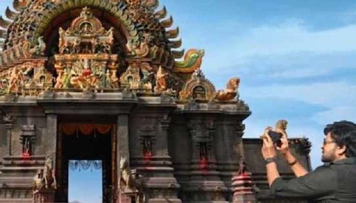 Acharya temple set: ఆచార్య మూవీ టెంపుల్ సెట్ లీక్ చేసిన చిరు