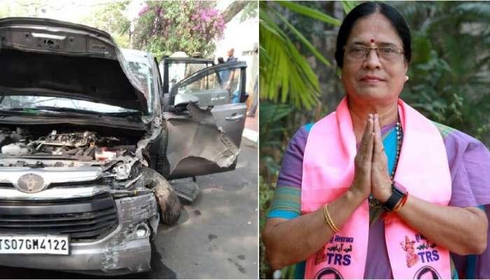 Surabhi Vani Devi Car Accident: టీఆర్ఎస్ ఎమ్మెల్సీ సురభి వాణీ దేవి కారుకు ప్రమాదం