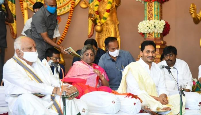 Tirumala: బ్రహ్మోత్సవాల వేళ...సుందరకాండ పారాయణంలో వైఎస్ జగన్